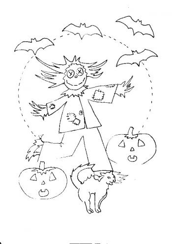 coloriage personnage halloween