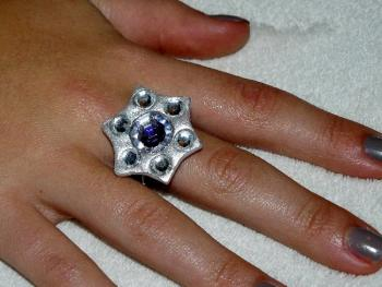 bague etoile strass