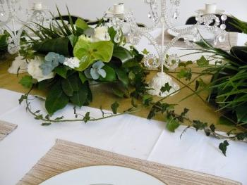 chemin table floral