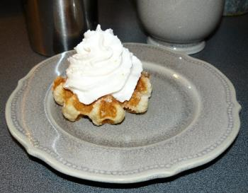 gaufre liegeoise chantilly