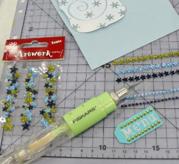 coller strass autocollant
