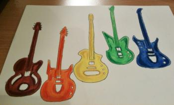 guitares multicolores